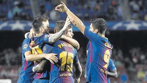 Los jugadores del Barça sabrán el próximo 11 de diciembre su rival de los octavos de final de la Champions 2017/18
