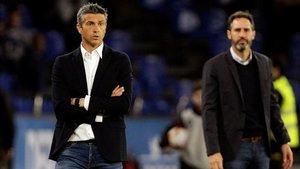 Martí, durante el partido del play-off en Riazor ante el Mallorca