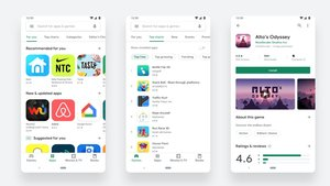 El nuevo diseño de Google Play Store