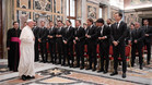 El Papa Francisco recibió a la selección alemana de fútbol