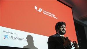 El presidente de la UFEC, Gerard Esteva, presentó el programa de ayuda al deporte catalán