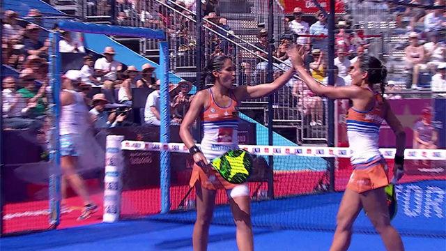 El puntazo de la final femenina de padel en el Valladolid Open