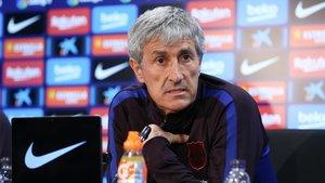 Quique Setién, entrenador del FC Barcelona