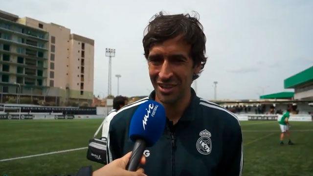 Raúl: Estamos disfrutando de la pasión por el fútbol que se vive aquí