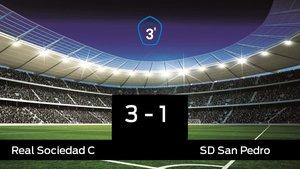 La Real Sociedad C se lleva la victoria en su casa frente al San Pedro
