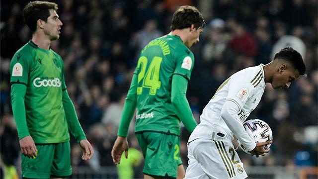 Rodrygo marcó el segundo gol del Madrid tras un pase de Vinicius