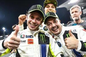Rossi celebra el triunfo