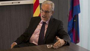 Silvio Elías, en la entrevista con SPORT en la CE Joan Gamper