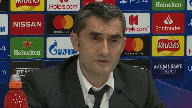 Valverde asegura que no vio la jugada del 4-0 del Liverpool
