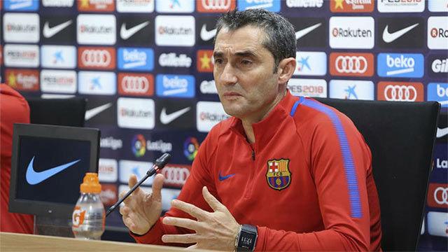Valverde habló antes del Celta-Barça de Copa