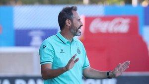 Vicente Moreno ofreció una rueda de prensa previa de cara al duelo ante el Mirandés.