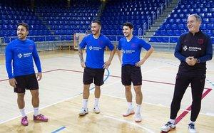 Ximbinha, en un entrenamiento con el Barça