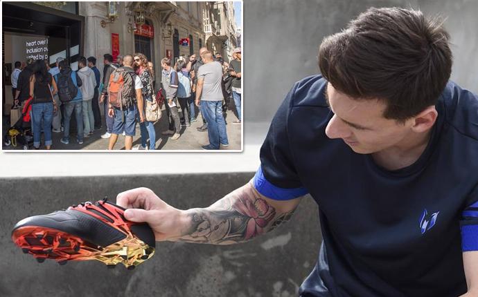 Tres días de cola para conseguir las nuevas botas de Leo Messi 12eaaef19bb20