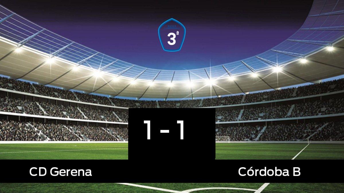 El Córdoba B logra un empate a uno frente al Gerena