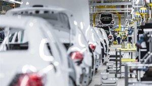 Cadena de montaje del Mercedes-Benz Clase E.