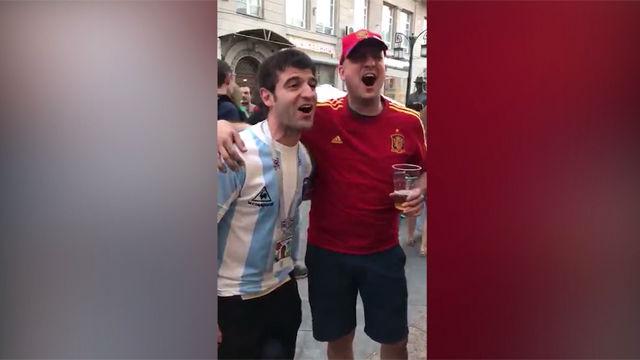 Un aficionado español y otro argentino narran el mítico gol de Maradona en el Mundial de México 1986