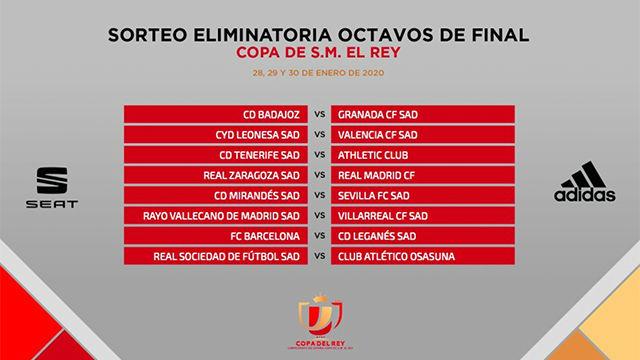 Barça - Leganés y Real Sociedad - Osasuna, duelos de Primera en octavos