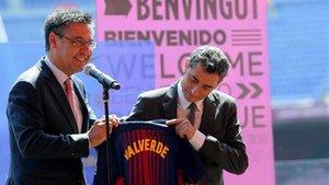 Bartomeu, junto a Valverde