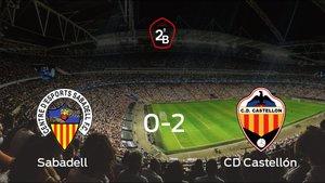 El Castellón se lleva la victoria después de vencer 0-2 al Sabadell