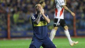 Darío Benedetto con el Boca Juniors