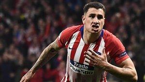 Giménez adelantó al Atlético frente a la Juventus