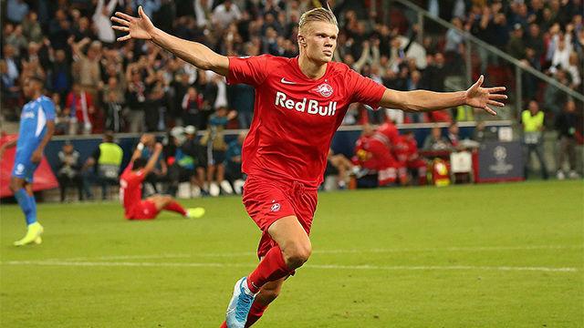 Haland se presenta en Champions con un hat-trick en 45 minutos