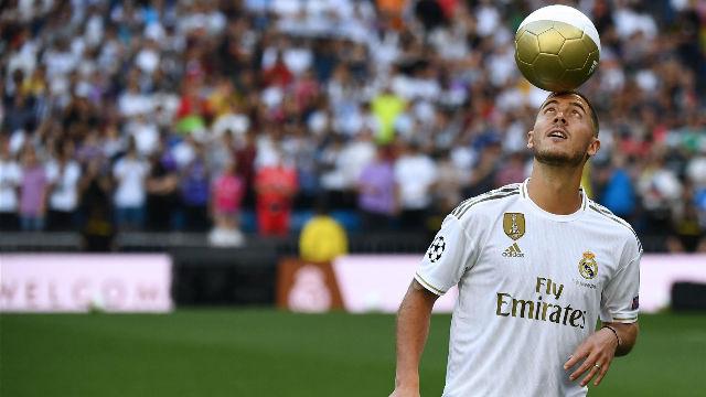Hazard es presentado en el Bernabéu