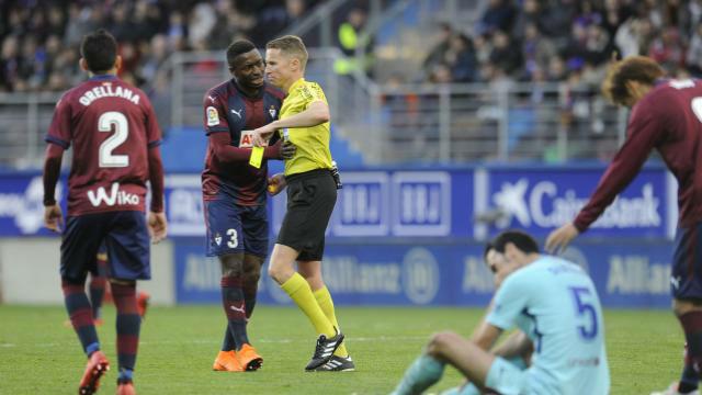 LALIGA | Eibar - FC Barcelona (0-2): La expulsión de Orellana