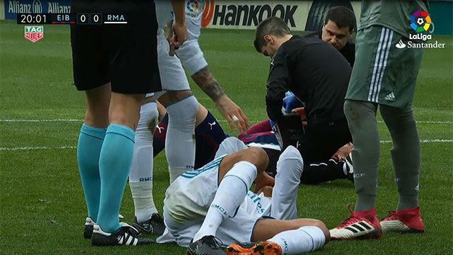 LALIGA | Eibar - Real Madrid (1-2): Varanne tuvo que ser sutituido por Carvajal