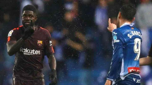 LALIGA | Espanyol-Barça (1-1) | Umtiti y Sergio García se encararon e insultaron en el túnel de vestuarios