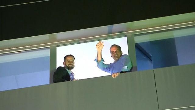 Líderes de Vox y simpatizantes del partido celebran el resultado electoral