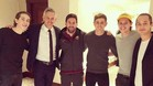 Lineker, junto a sus hijos, se fotografió con Messi