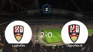El Logroñés derrota por 2-0 al Logroñes B