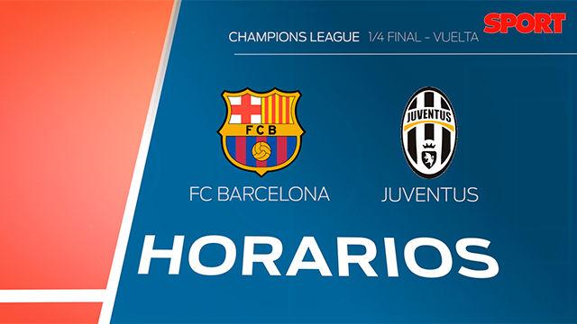Los horarios del Barça - Juventus en todo el mundo