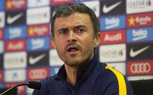 Luis Enrique Martínez, entrenador del FC Barcelona, en la previa del partido de Copa contra el Espanyol