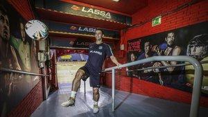 Marcenio, en el túnel del Palau Blaugrana