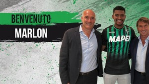 Marlon ya posa con la camiseta del Sassuolo