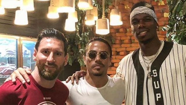 Messi y Pogba compartieron noche en un prestigioso restauranet de Dubai