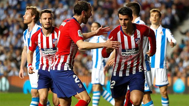 Morata mantiene vivo al Atlético en LaLiga gracias a un doblete ante la Real Sociedad