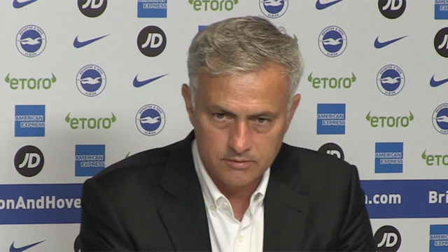 Mourinho analiza la derrota del Manchester ante el Brighton