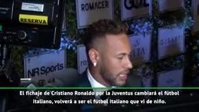 Neymar: Cristiano cambiará el fútbol italiano