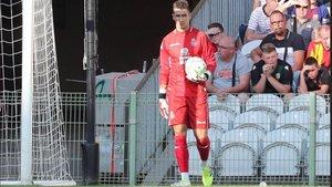 Prieto durante un encuentro con el Espanyol