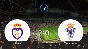 El Real Jaénsuma tres puntos más frente a la Maracena (2-0)