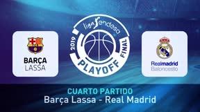 El Real Madrid logra el título de la Liga Endesa tras vencer al Barça Lassa en el cuarto partido