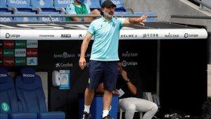 Rufete dirigió su penúltimo duelo en el RCDE Stadium