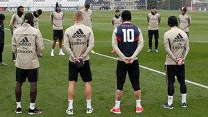 Sergio Ramos y sus compañeros guardaron un minutos de silencio