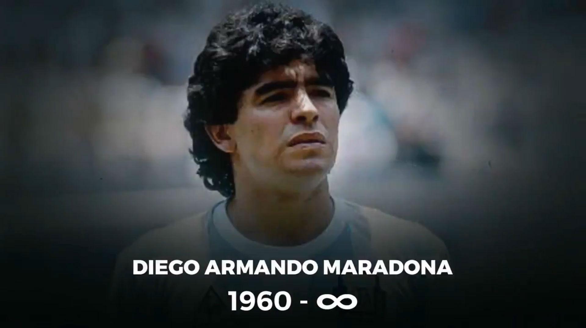 El Sport Club Internacional también rinde homenaje a Maradona