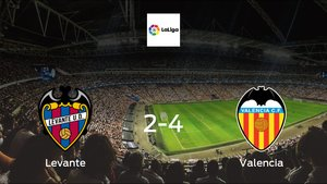 Valencia earned hard-fought win over Levante 2-4 at Ciudad de Valencia