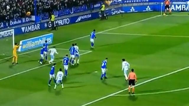 No se verá nada igual: Tremendo gol de escorpión de Álvaro Vázquez para el Zaragoza