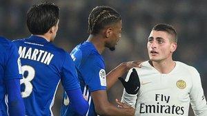 Verratti acabó frustrado en Estrasbourgo